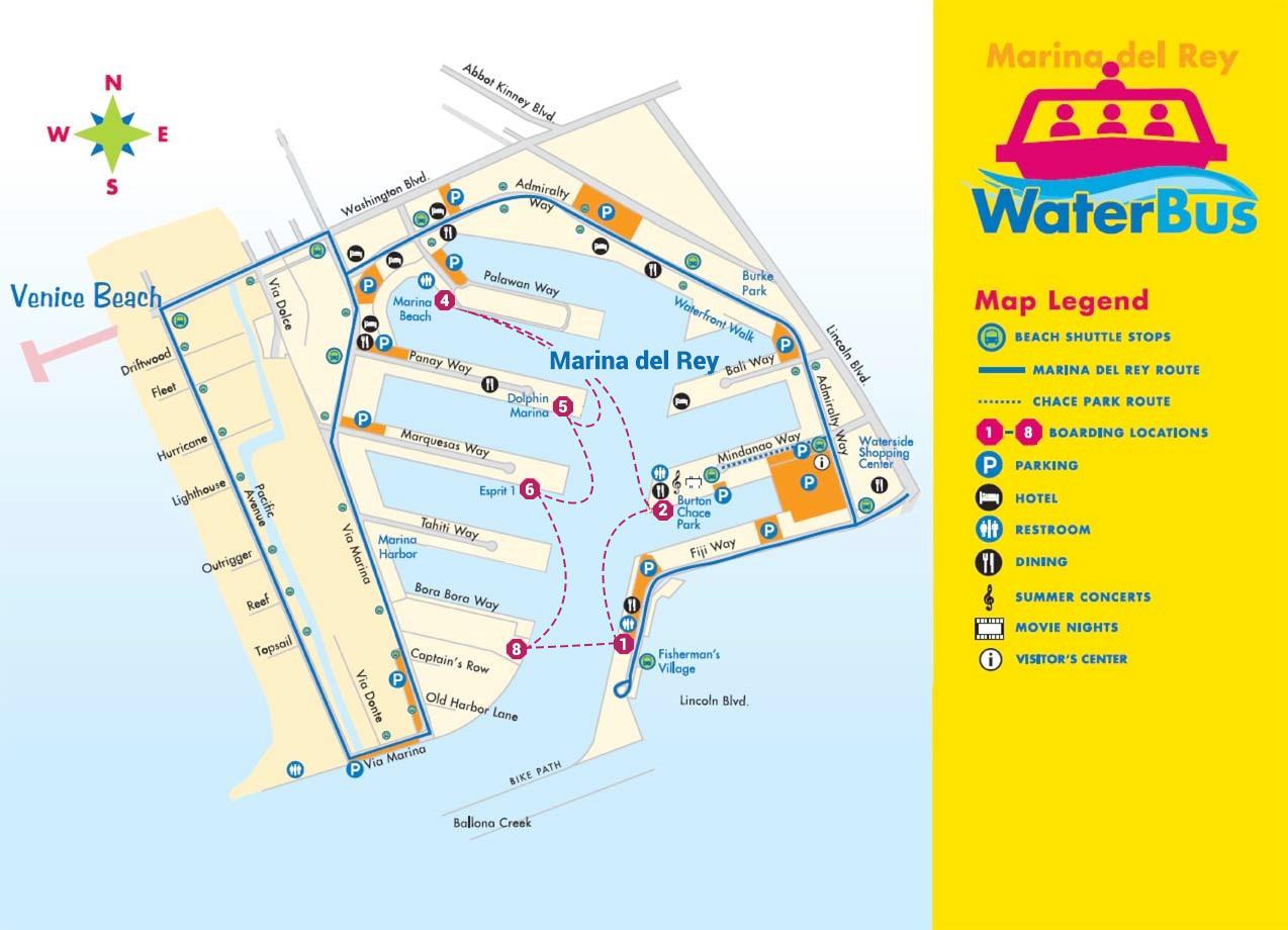 marina waterbus map